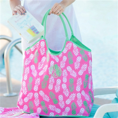 Pineapple Beach Bag: Personalized Beach Bag | lulukate
