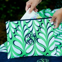 Zip Pouch, Personalized Accessory Bag, Monogram Tote