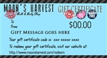 Moon's Harvest Gift Certificates