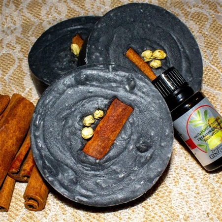Shampoo Bar Bamboo Charcoal with Ginger Tangerine