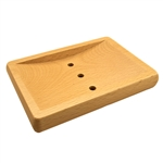 Beech Wood Soap Dish Slip and Slide