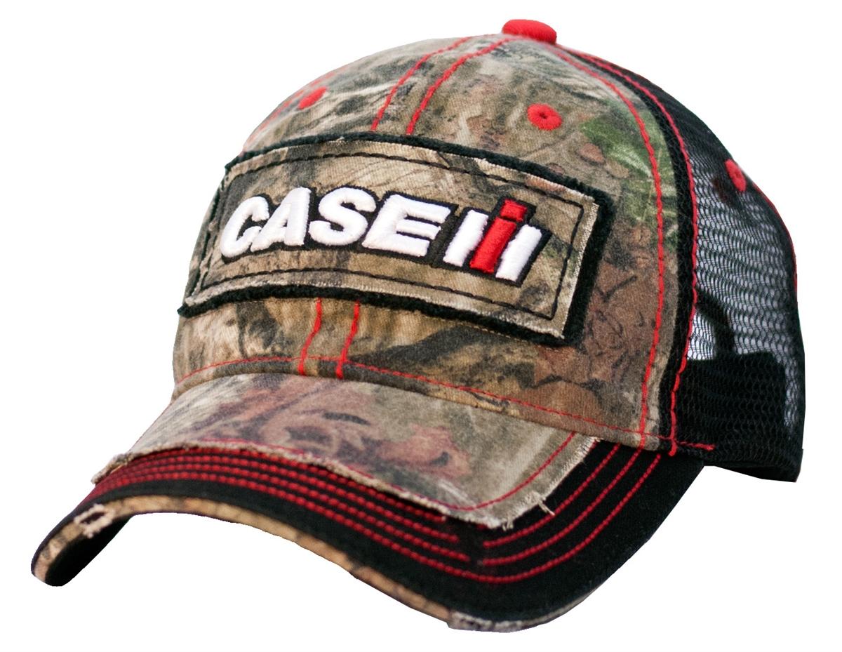 b71c85053c1 Case IH Distressed Youth Hat Camo   Black