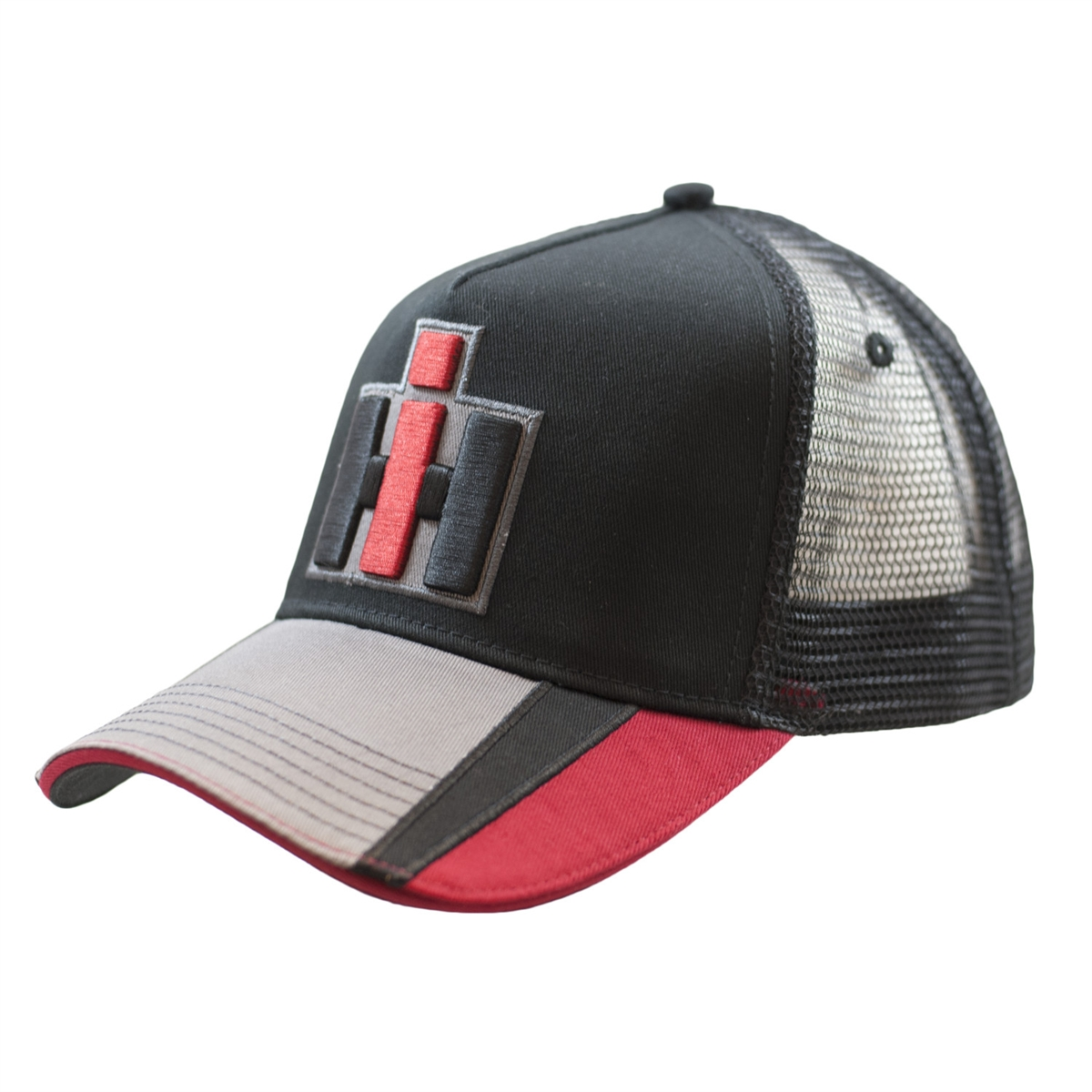 8990cfcc72c33 IH Black Red and Gray Hat