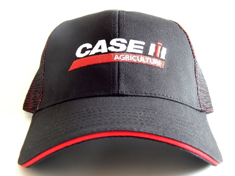 f00a2844029e2 CASE IH HAT BLACK WITH RED BLACK MESH