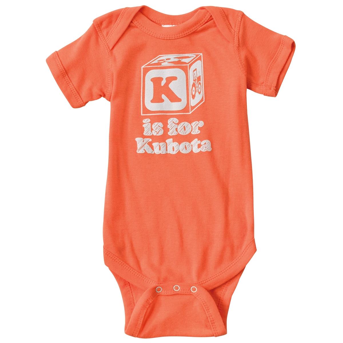 kubota baby block onsie