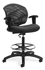 Tye Mesh Low Back Task Drafting Chair - 1922-6