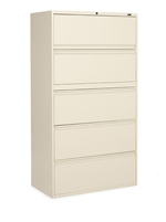 "5-Drawer 36"" W Lateral File - 1936P-5F12"