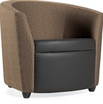 Sirena Fabric/Leather Lounge Chair
