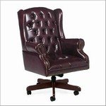 Traditional Queen Anne High Back Tilter Chair