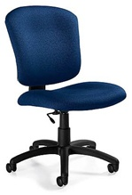 Supra-X Medium Back Armless Task Chair from Global