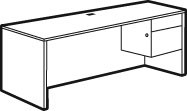Adaptabilities Single Pedestal Credenza
