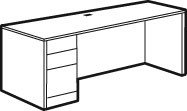 Adaptabilities Single Full Pedestal Credenza