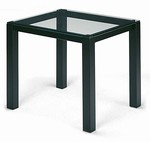 Glass Top End Table with Square Legs
