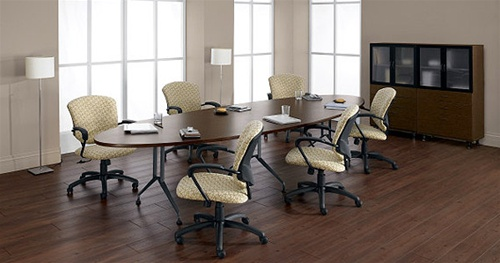 Ft Elliptical Conference Table With Sculptured Base And TMold - Elliptical conference table