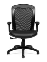 Seating To Go: Luxhide Adjustable Mesh Back Ergonomic Chair by Global OTG