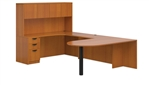 "Superior Laminate ""D"" Island U Shaped Desk with Hutch - Layout SL-F from Global"