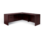 Offices To Go: Credenza with Extended Corner and Return L Desk - Layout SL-M