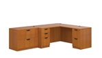 Superior Laminate L-Shaped Desk with Lateral File - Layout SL-N from Global