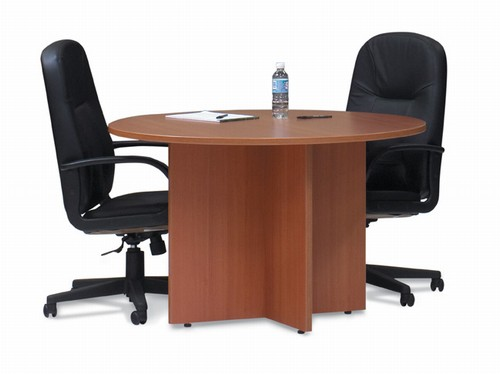 Offices To Go 42 Round Conference TableCross Base from Global