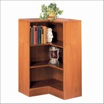 36in H Corner Wood Bookcase