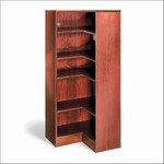 60in H Corner Wood Bookcase