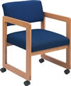 Classic Open Back Series: Sled Base Guest Chair with Casters - Healthcare Vinyl - C1101C3
