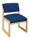 Classic Open Back Series: Sled Base Armless Guest Chair - Healthcare Vinyl - C1102G3