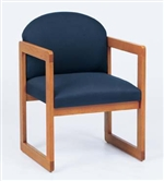 Classic Round Back Series: Sled Base Guest Chair - Healthcare Vinyl - C1301G3