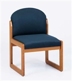 Classic Round Back Series: Sled Base Armless Guest Chair - C1302G3