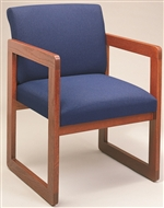 Classic Full Back Series: Sled Base Guest Chair - Healthcare Vinyl - C1401G3