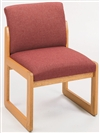 Classic Full Back Series: Sled Base Armless Guest Chair - Healthcare Vinyl - C1402G3