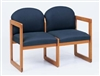 Classic Round Back Series: 2 Seat Sled Base Sofa - C2301G3