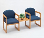 Healthcare Reception: Classic Series 2 Chairs with Connecting Center Table