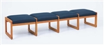 Classic Series: 4 Seat Sled Base Bench - C4001B3