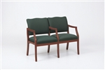 Franklin Series: 2 Seats with Center Arm - Healthcare Vinyl - D2853K5