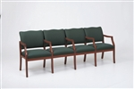 Franklin Series: 4 Seats with Center Arms - Healthcare Vinyl - D4853K5