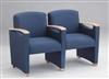 Somerset Series: 2 Seats with Center Arm - Healthcare Vinyl - F2403G6