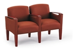 Brewster Series: 2 Seats with Center Arm - Healthcare Vinyl - F2453K6
