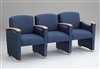 Somerset Series: 3 Seats with Center Arms - Healthcare Vinyl - F3403G6