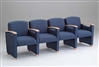 Somerset Series: 4 Seats with Center Arms - Healthcare Vinyl - F4403G6