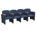 Savoy Series: 4 Seats with Center Arms - Healthcare Vinyl - G4403G4