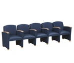 Savoy Series: 5 Seats with Center Arms - Healthcare Vinyl - G5403G4