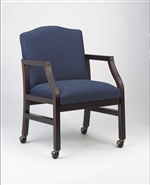 Hartford Series: Guest Chair with Casters - Healthcare Vinyl - H1101C5
