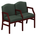 Hartford Series: 2 Seats with Center Arm - Healthcare Vinyl - H2103G5