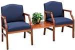 Hartford Series: 2 Chairs with Connecting Center Table - H2111G5