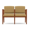 Amherst Open Arm Series: 2 Seats with Center Arm - Healthcare Vinyl - K2403G5