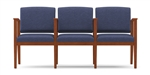 Amherst Open Arm Series: 3 Seats with Center Arms - Healthcare Vinyl - K3403G5