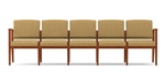 Amherst Open Arm Series: 5 Seat Sofa - Healthcare Vinyl - K5401G5