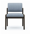 Lenox Panel Arm Series: Armless Guest Chair - Healthcare Vinyl - L1132G6