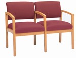 Lenox Open Arm Series: 2 Seats with Center Arm - Healthcare Vinyl - L2103G5